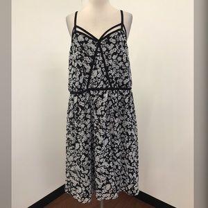 Lane Bryant Black & White Floral Dress size 18/20